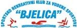 """Знак пливачког клуба """"Бјелица"""" из Врбаса, организатора такмичења и линк на њихову Facebook страницу"""