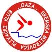 """Znak plivačkog kluba """"Oaza"""" iz Sremske Mitrovice, organizatora takmičenja, link na Facebook stranicu"""