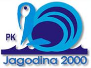 """Znak plivačkog kluba """"Jagodina 2000"""" i link na matičnu stranicu organizatora takmičenja"""