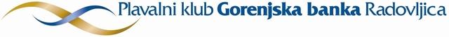 Знак пливачког клуба Радовљица Горењска банка и линк на њихову званичну страницу