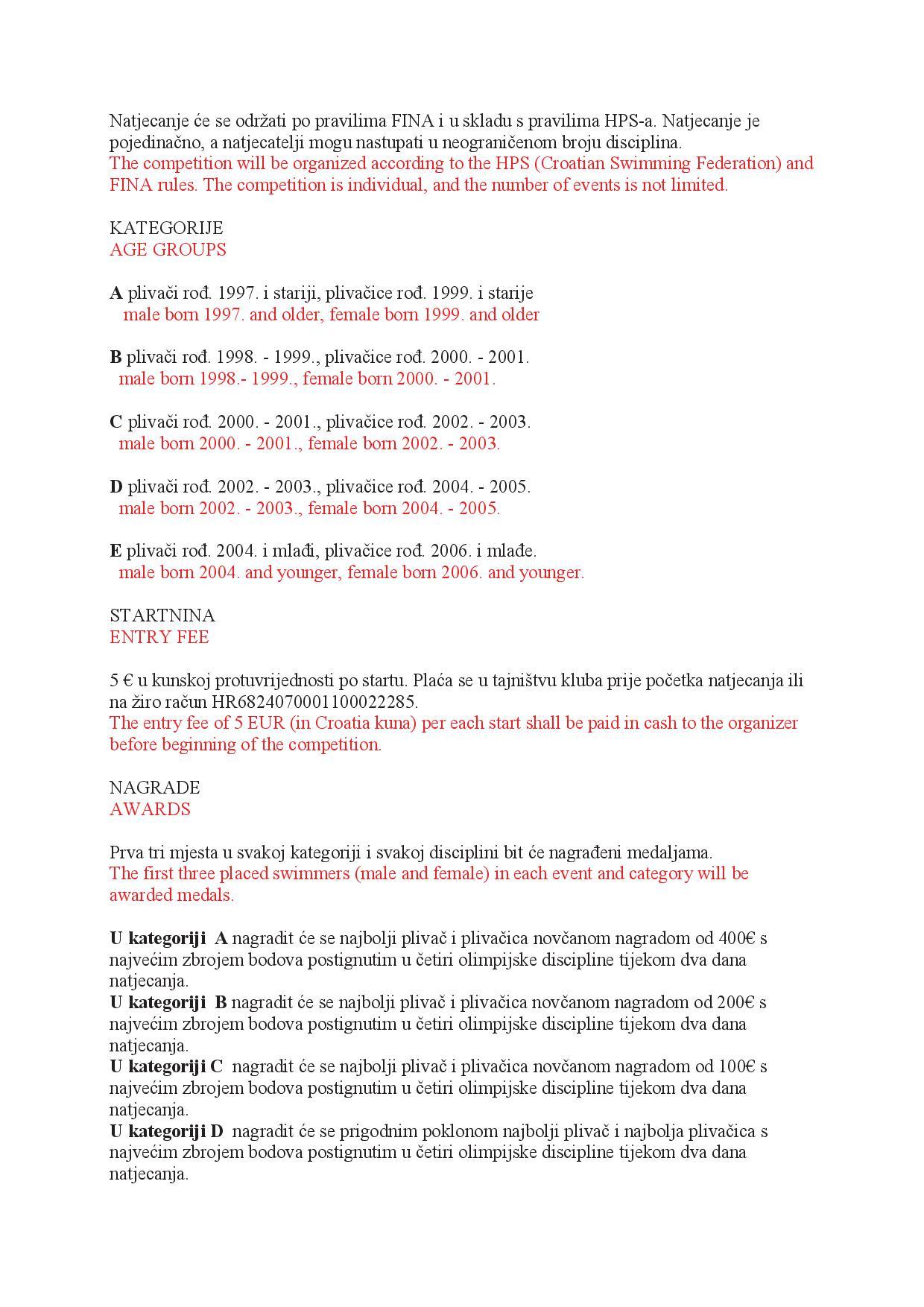 Пропозиције натјецања у PDF формату на језику организатора и енглеском, страна 2