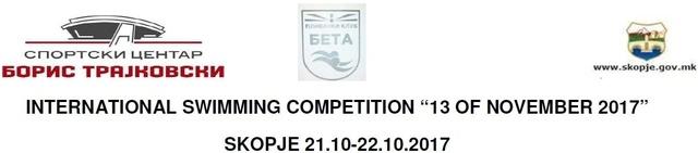 "Znak takmičenja i Facebook stranica plivačkog kluba ""Beta"" iz Skopja"