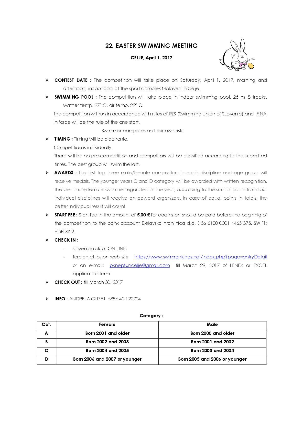 Пропозиције организатора на енглеском језику, страна 2