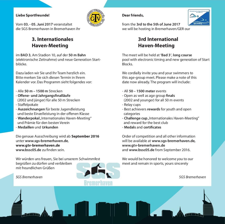 Флајер организатора такмичења на немачком и енглеском језику, страна 2
