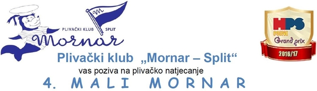 """Позив на митинг пливачког клуба """"Морнар"""" из Сплита и линк на њихову званичну страницу"""