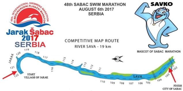 Рута 48. шабачког маратона 2017 (скраћена верзија, кропована слика)
