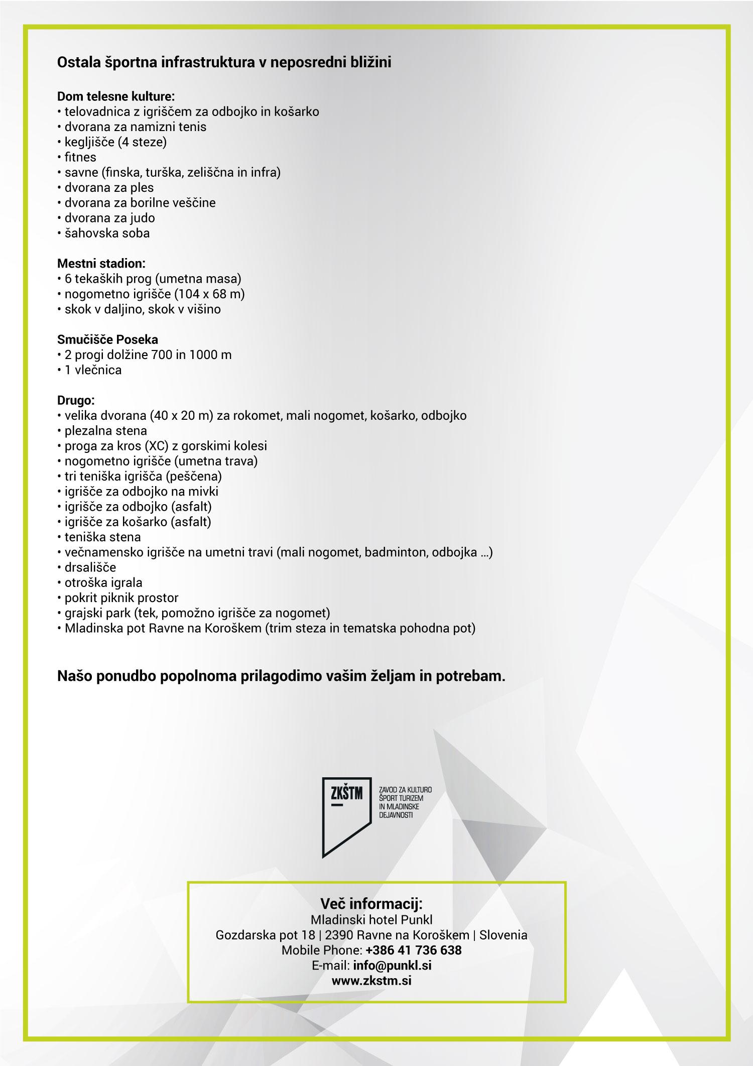 Спортске припреме 2020, прилог на словеначком језику, страна 2