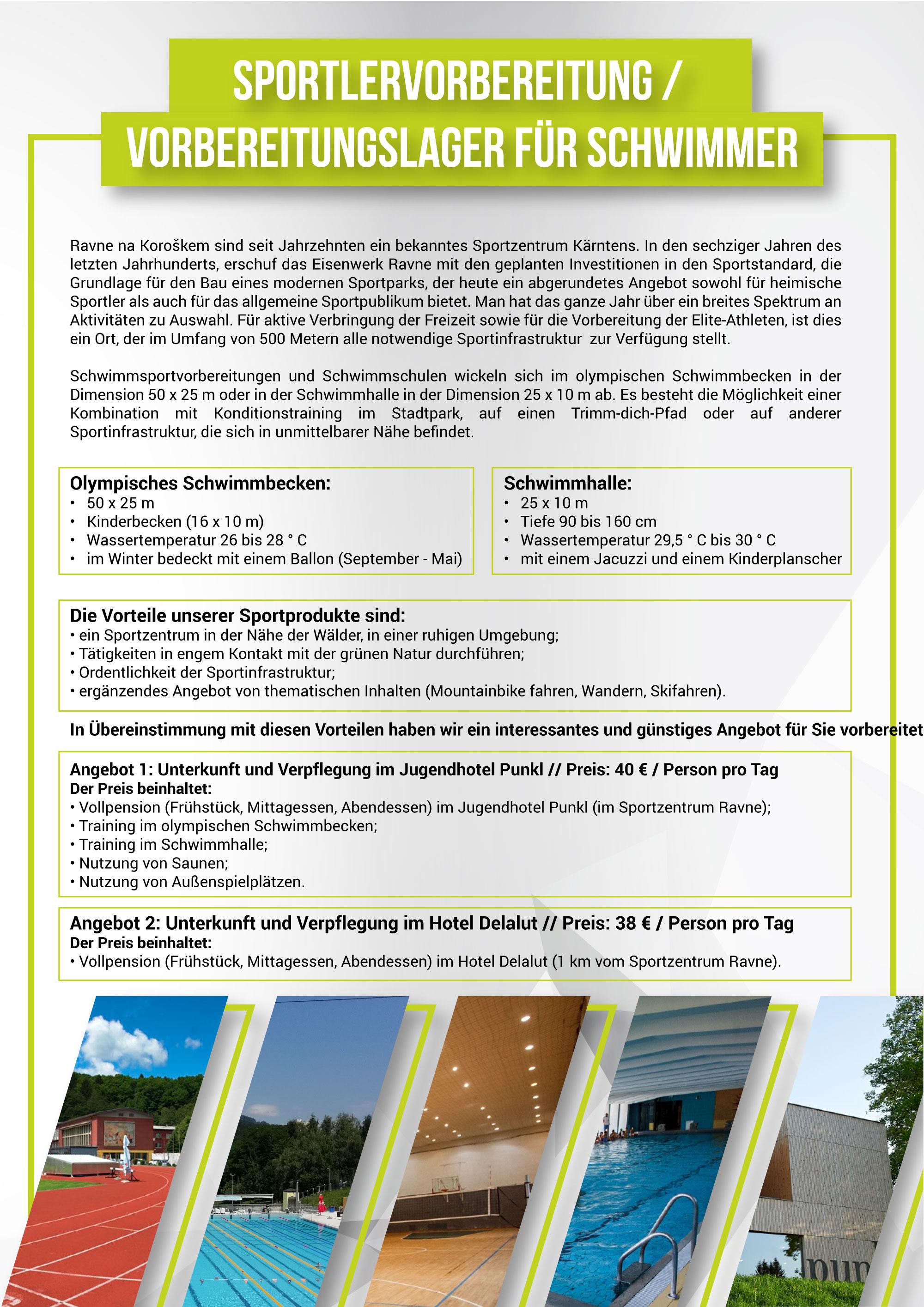 Спортске припреме 2020, прилог на немачком језику, страна 1