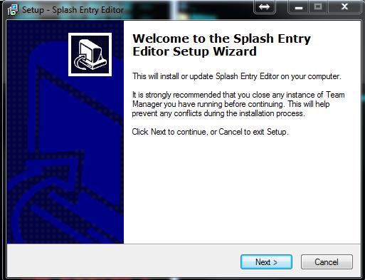 Почетак инсталације приграма EntryEditor, наставити са Next
