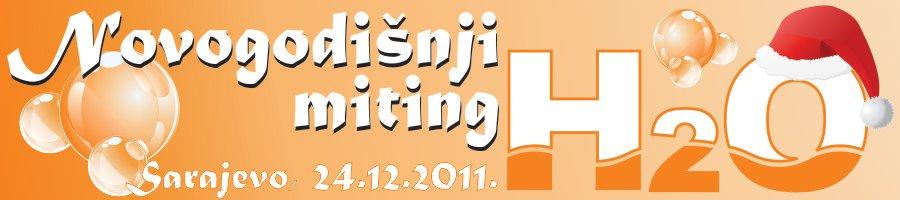 """Заштитни знак такмичења """"Новогодишњи митинг H2O 2011"""", Сарајево и линк на званични сајт клуба"""