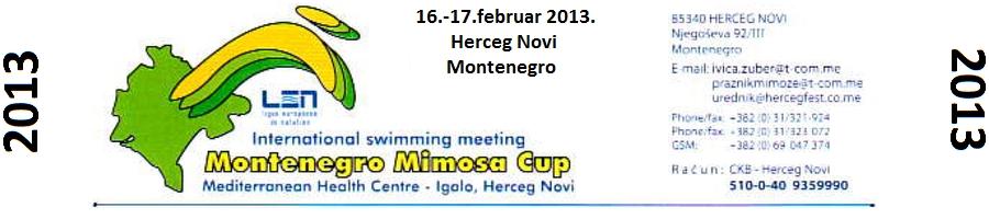 """Лого митинга Mpntenegro Mimosa CUP-a"""" у Херцег Новом"""