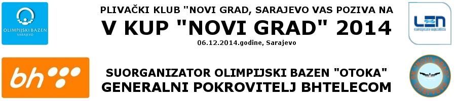 """Najava plivačkog mitinga 5. Kup """"Novi Grad"""", Sarajevo, 06.12.2014.godine"""