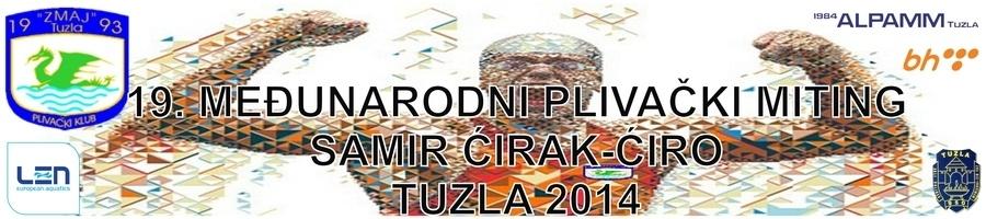 """Знак такмичења и пливачког клуба """"Zmaj-Alpamm"""" из Тузле и линк на њихову Facebook страницу"""