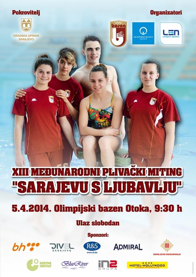 Плакат такмичења и линк на матичну страницу, ПК Босна, Сарајево, Босна и Херцеговина