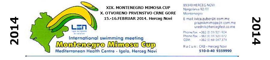 """Лого митинга """"Montenegro Mimosa CUP"""" у Херцег Новом"""