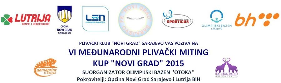 """Најава пливачког митинга 6. Куп """"Нови Град"""", Сарајево, 06.12.2015.године"""