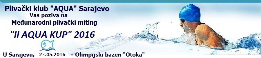 Пливачки клуб Aqua, Сарајево и линк на њихову Facebook страницу