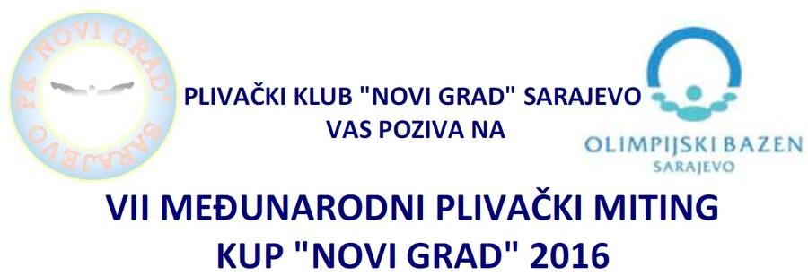 """Најава пливачког митинга 6. Куп """"Нови Град"""", Сарајево, 06.12.2016.године"""