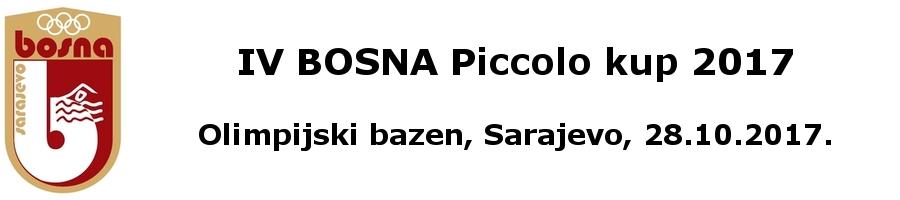 Plivački klub Bosna iz Sarajeva, njihov znak i link na stranicu organizatora takmičenja