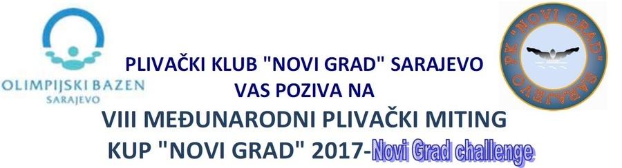 """Најава пливачког митинга 8. Куп """"Нови Град"""", Сарајево, 02.12.2017.године"""