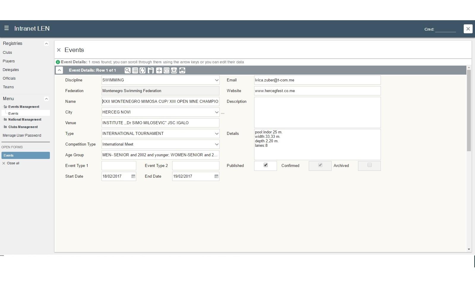 LEN формулар на web страници LEN-a