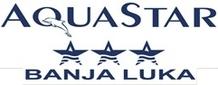 """Знак пливачког клуба """"Aqua Star"""" из Бањалуке и линк на њихову Facebook страницу"""