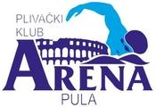 """Знак пливачког клуба """"Арена"""" из Пуле и линк на њихову матичну страницу"""