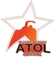 """Знак пливачког клуба """"Атол"""" из Oleśnica (PL) и линк на њихову званичну страницу"""
