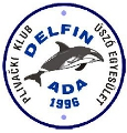 "Знак пливачког клуба ""Делфин"" из Аде, организатора митинга"
