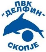"""Знак пливачког ватерполо клуба """"Делфин"""" из Скопја и линк на сајт организатора такмичења"""