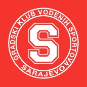 Знак пливачког клуба ГКВС Сарајево и линк на њихову страницу
