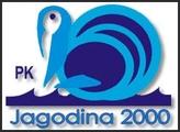 """Знак пливачког клуба """"Јагодина 2000"""" из Јагодине и линк на њихову страницу"""