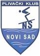 """Знак пливачког клуба """"Нови Сад"""" и линк на њихову матичну страницу"""