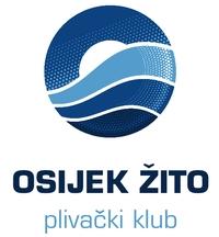 """Знак пливачког клуба """"Осијек-Жито"""" из Осијека и линк на њихову матичну страницу"""