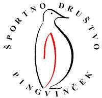 """Знак спорстког друштва """"Пингвинчек"""" из Крања и линк на њихову страницу"""
