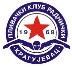 """Znak plivačkog kluba """"Kragujevac"""" iz Kragujevca i link na njihovu stranicu"""