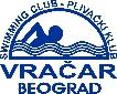 Znak plivačkog kluba Vračar i link na njihovu stranicu