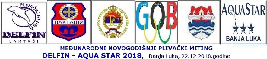 """Новогодишњи митинг """" Делфин-Aqua Star 2018"""" (BiH)"""
