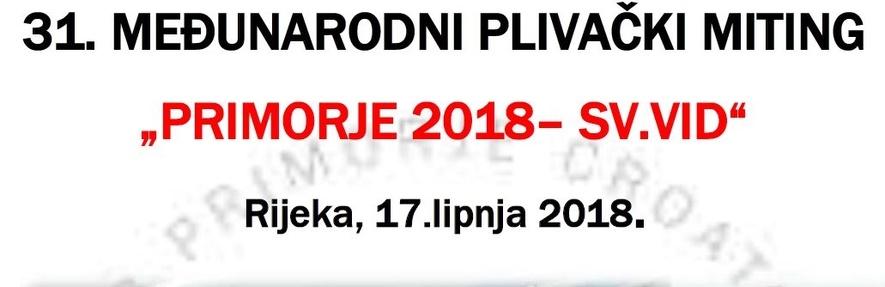 Приморје 2018 Св. Вид (CRO)