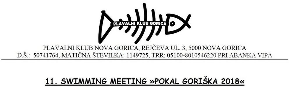 """Znak plivačkog kluba """"Nova Gorica"""" i link na njihovu zvaničnu stranicu"""