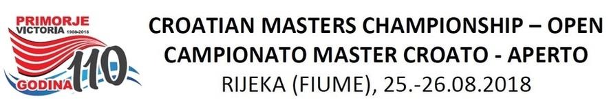 Croatian Open Master Championship 2018 (CRO)