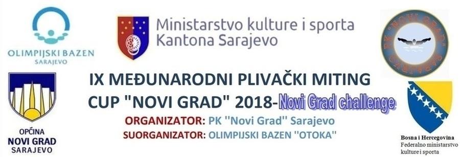 """Најава пливачког митинга 9. Куп """"Нови Град"""", Сарајево, 06.12.2018.године"""