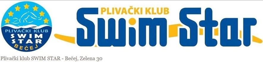 Znak plivačkog kluba Swim Star iz Bečeja i link na njihovu zvaničnu prezentaciju