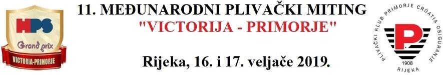 """Знак пливачког клуба """"Приморје-Croatia osiguranje"""" из Ријеке и линк на њихову матичну страницу"""
