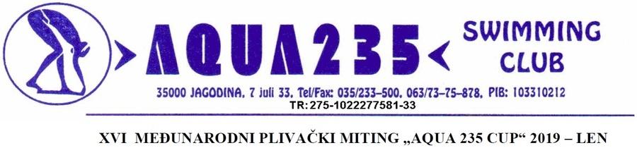Летњи Aqua 235 куп 2019 (SRB)