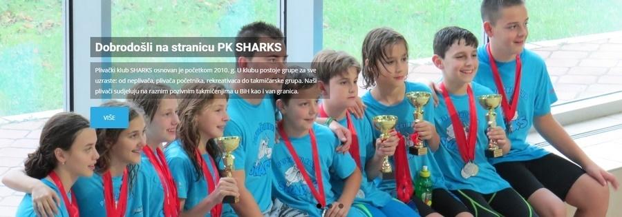 """Пливачки клуб """"Sharks"""" из Сарајева и линк на њихову матичну страницу"""
