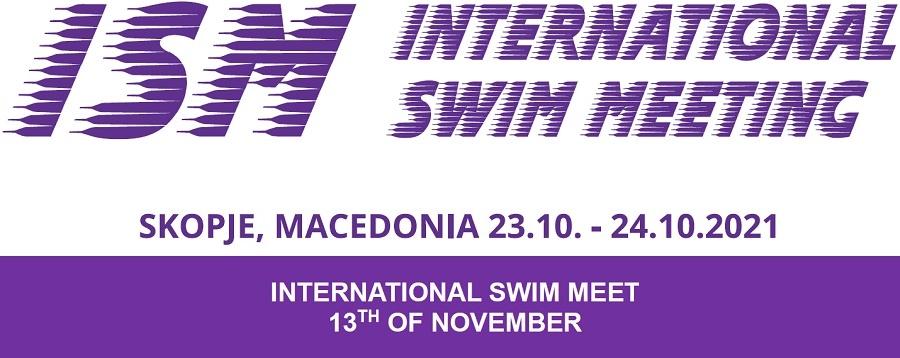 """Знак такмичења и Facebook страница пливачког клуба """"Бета"""" из Скопја"""